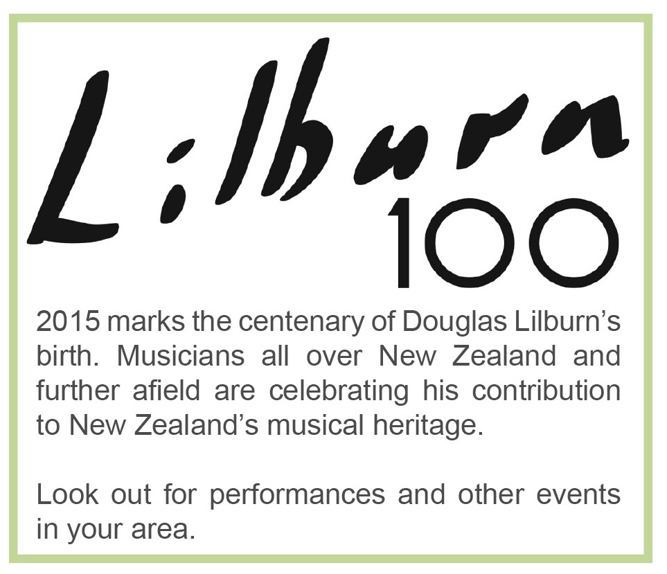 Find out about events celebrating the centenary of Lilburn's birth in 2015.