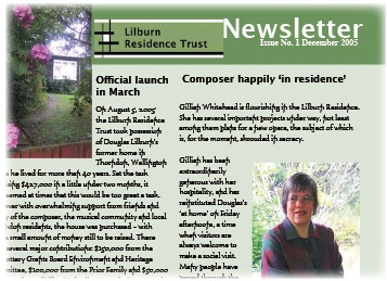 Lilburn Residence Trust newsletter, page 1, 2005